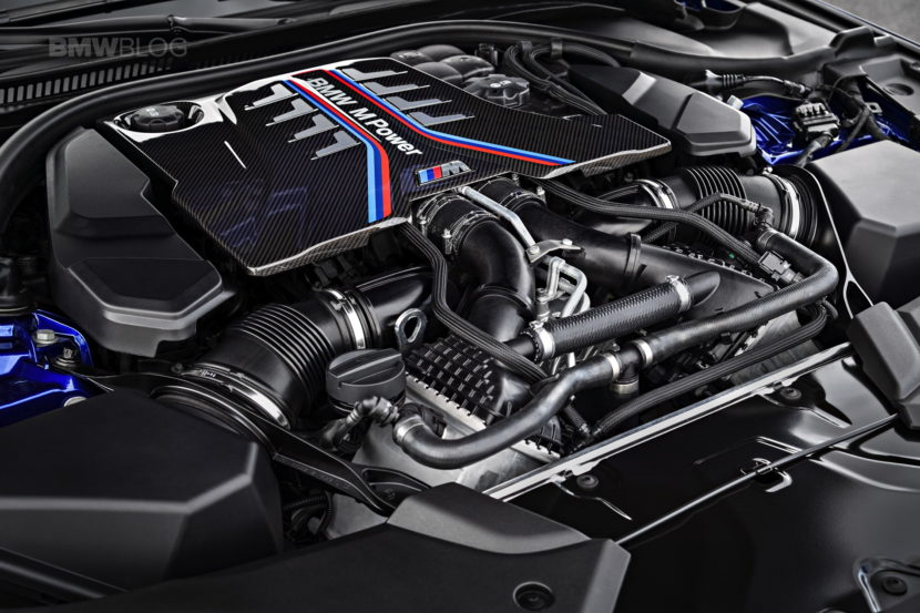 2018 BMW M5 engine 01 830x553