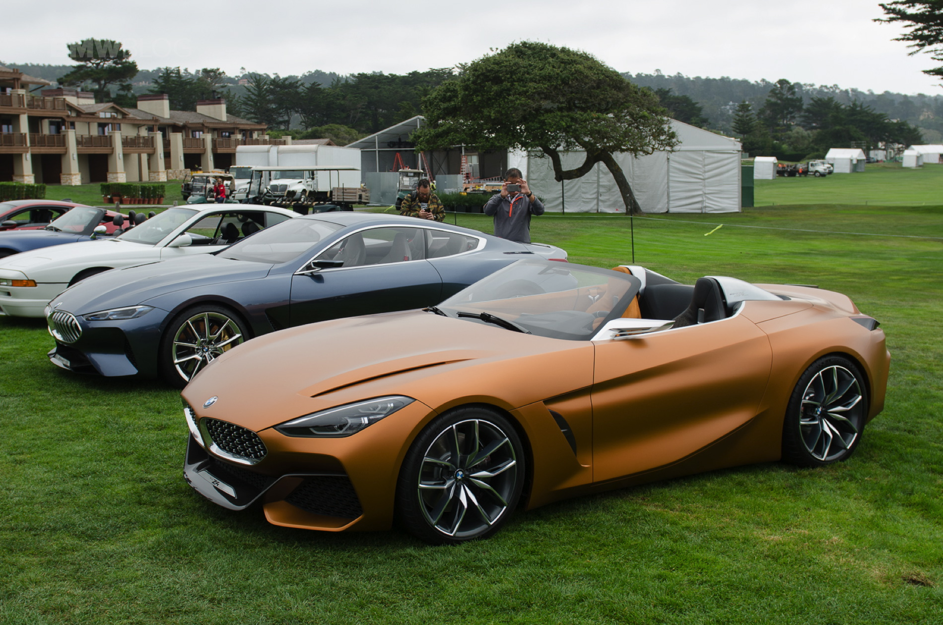 Video Bmw Concept Z4 And 8 Series Coupe At Pebble Beach