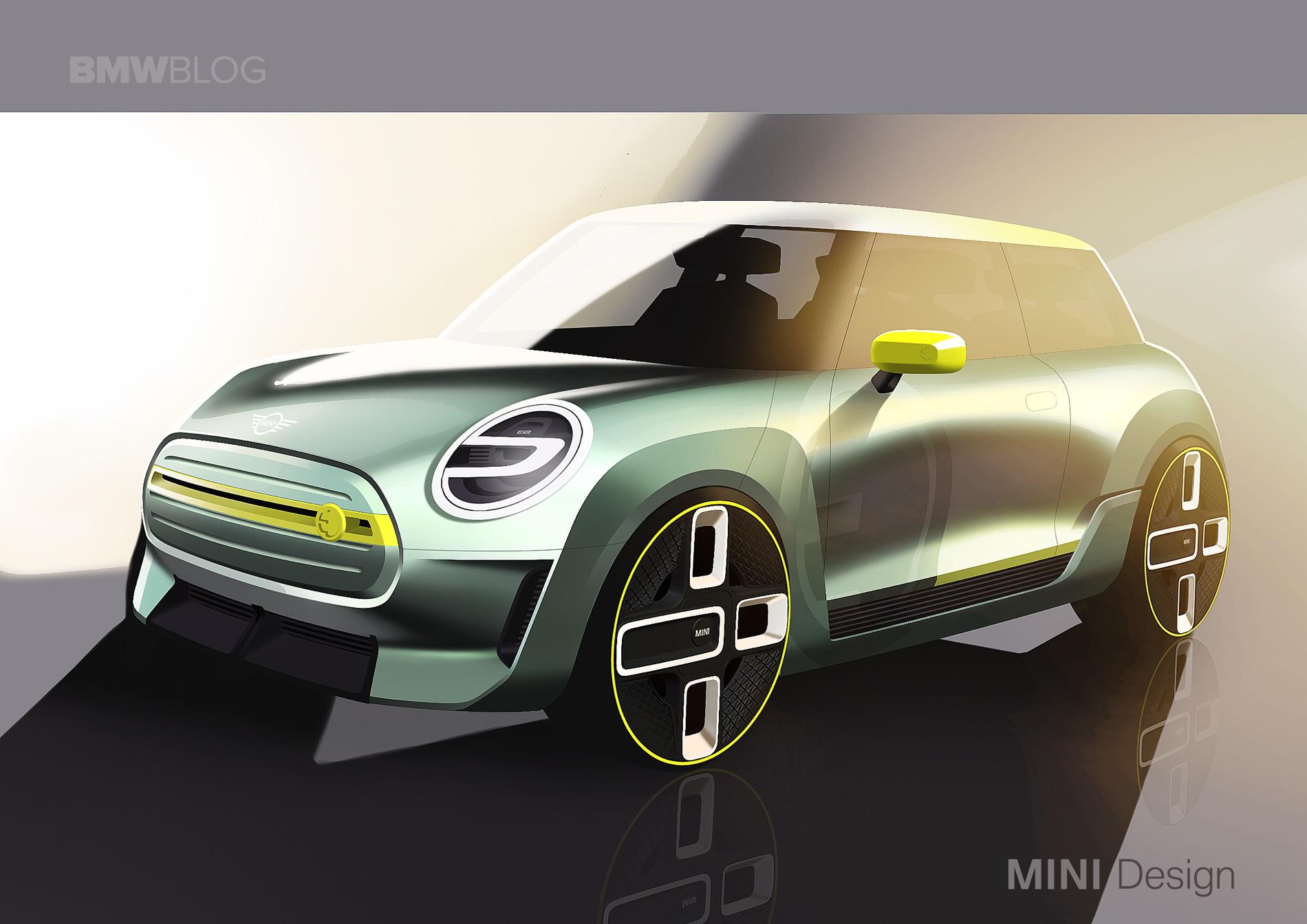 MINI Electric Concept sketches 01