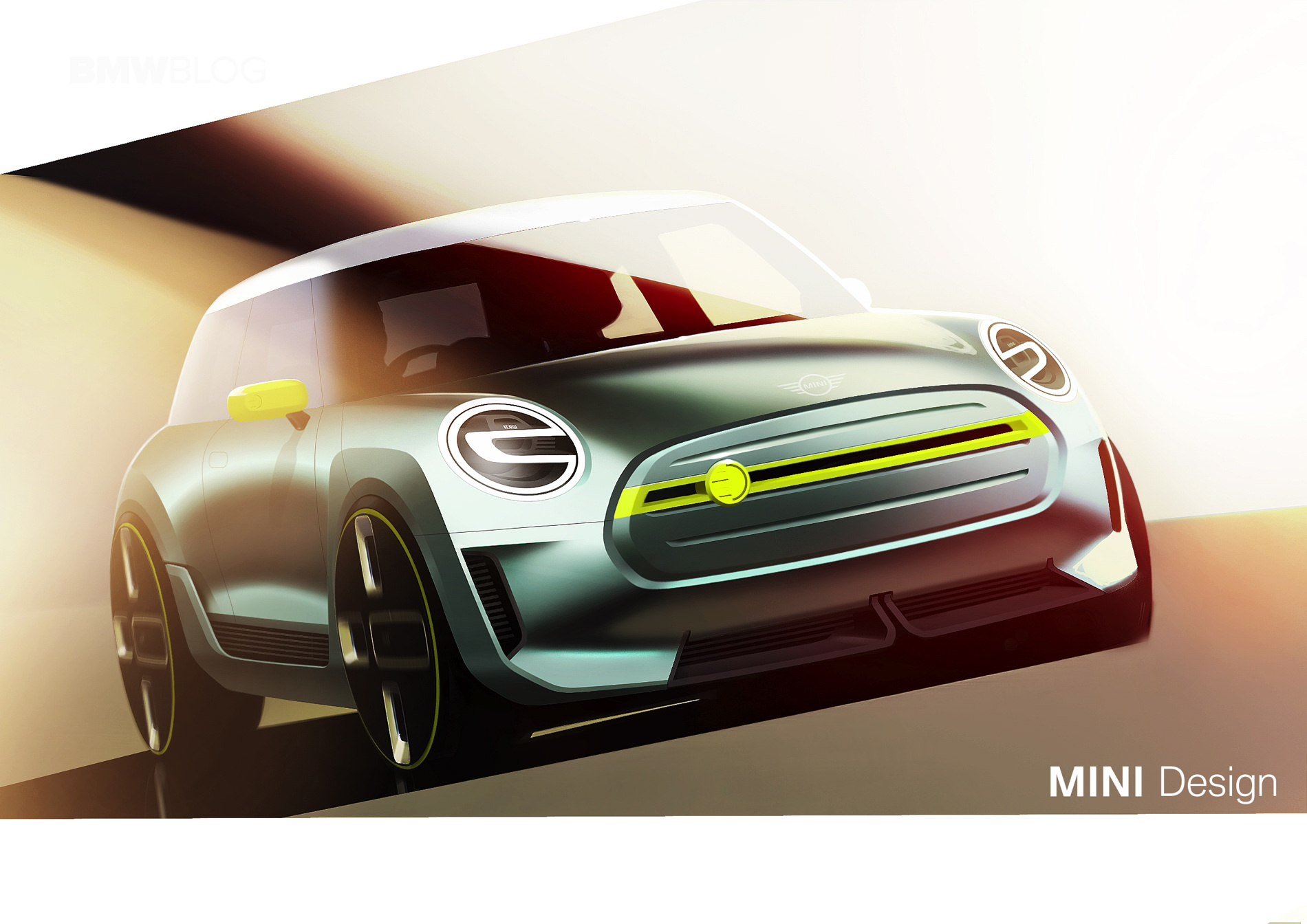 MINI Electric Concept sketches 03