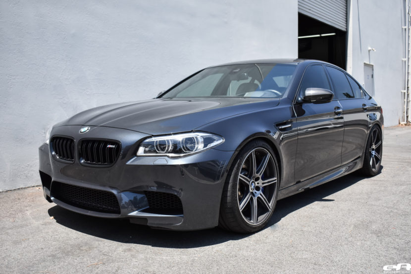 Singapore Gray BMW M5 Gets An Eisenmann Exhaust System Installed 10 830x553