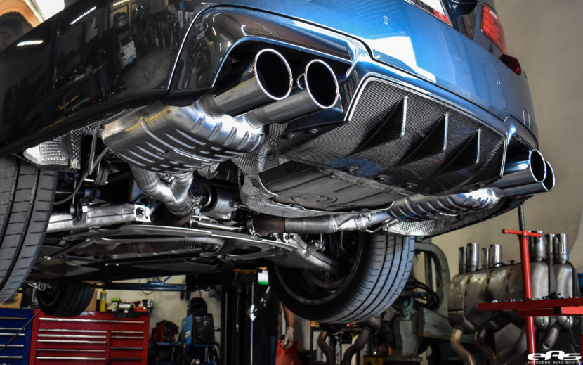 Singapore Gray BMW M5 Gets An Eisenmann Exhaust System Installed 5 830x519
