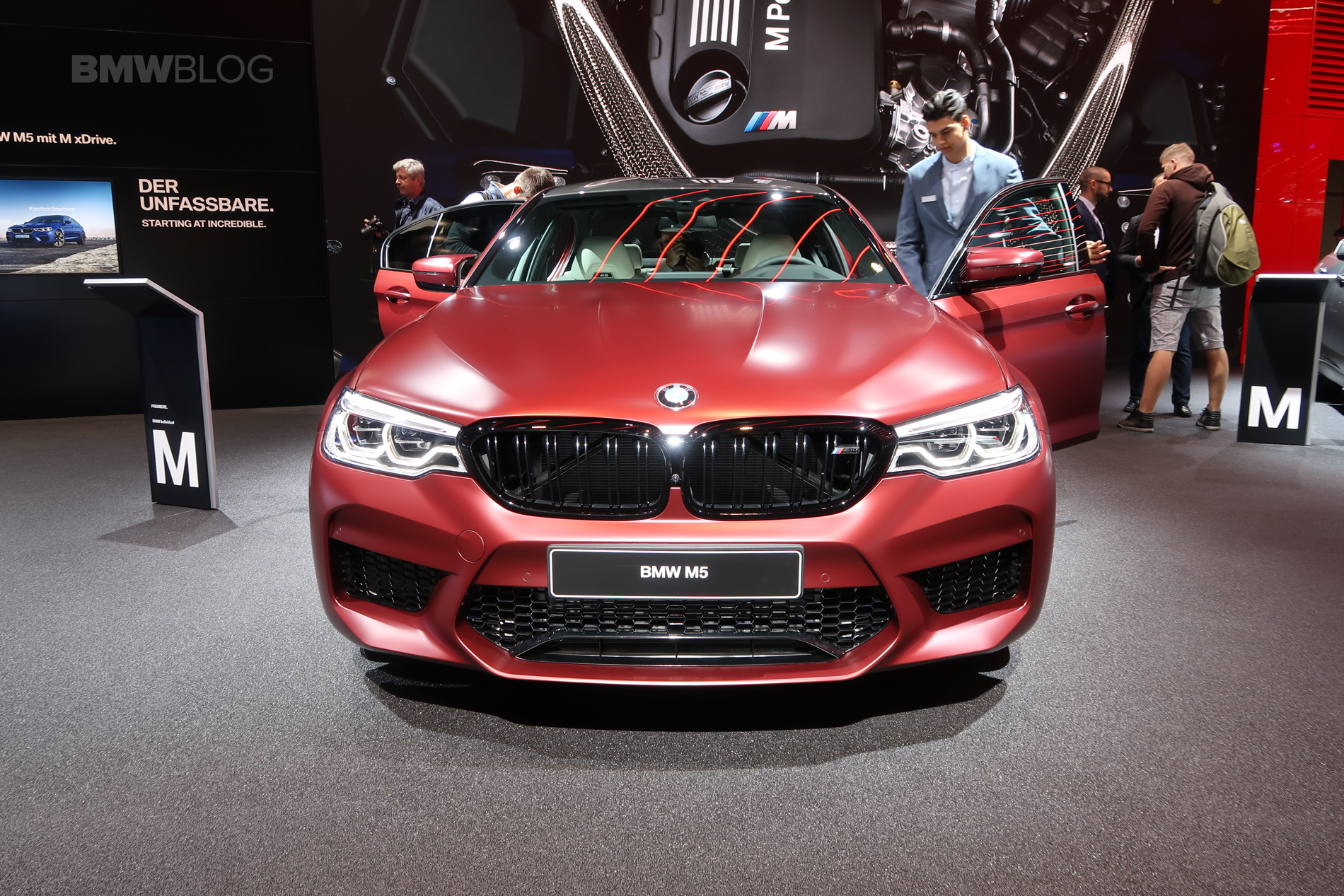 2017 Frankfurt Auto Show Bmw M5 First Edition Frozen Dark Red Metallic