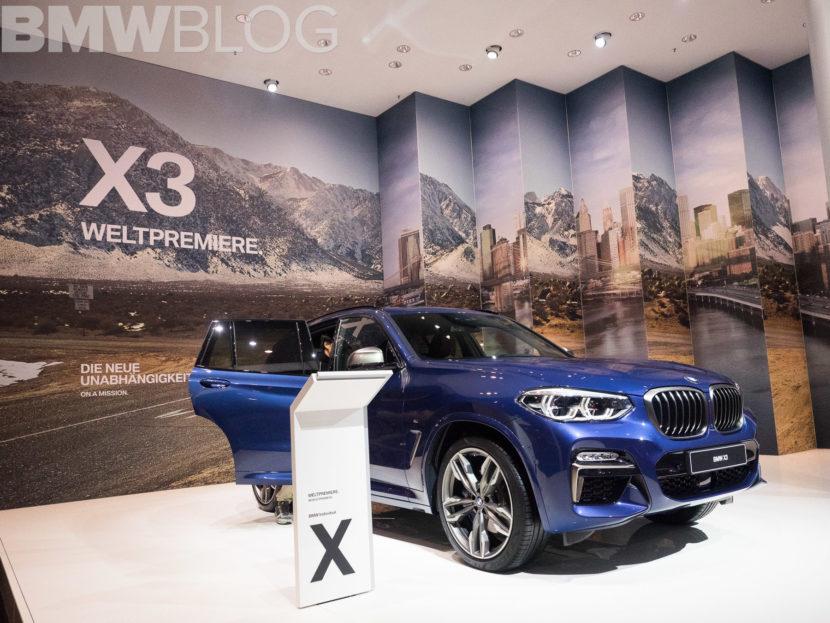2018 BMW X3 Frankfurt Auto Show 1 830x623