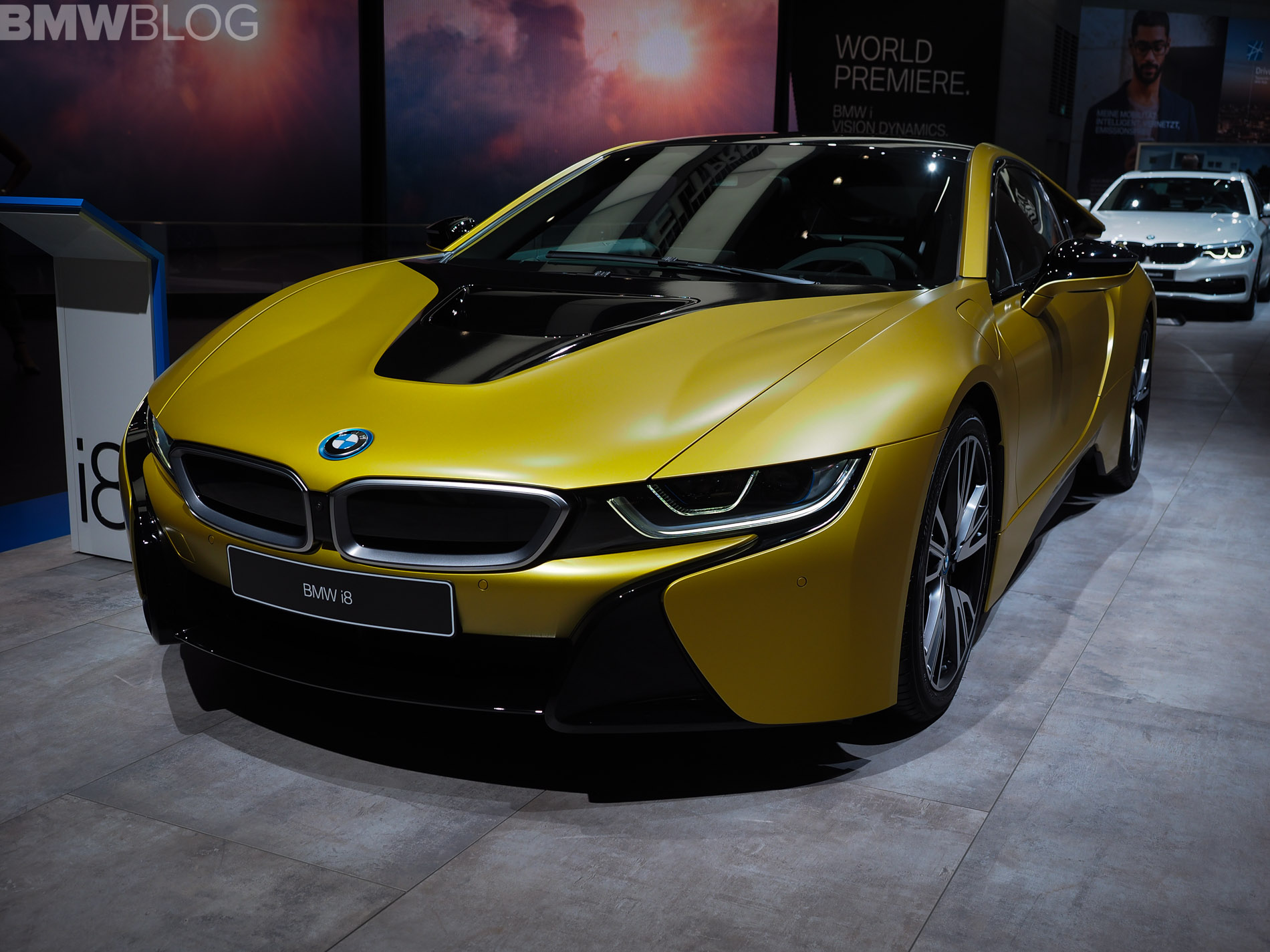 The Stunning Bmw I8 Protonic Frozen Yellow Edition Shines In Frankfurt