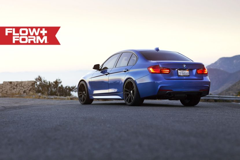 Estoril Blue Metallic BMW 335i With HRE FF04 Wheels 1 830x553