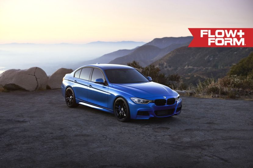 Estoril Blue Metallic BMW 335i With HRE FF04 Wheels 4 830x553