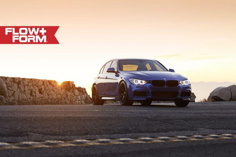 Estoril Blue Metallic BMW 335i With HRE FF04 Wheels 7 830x553
