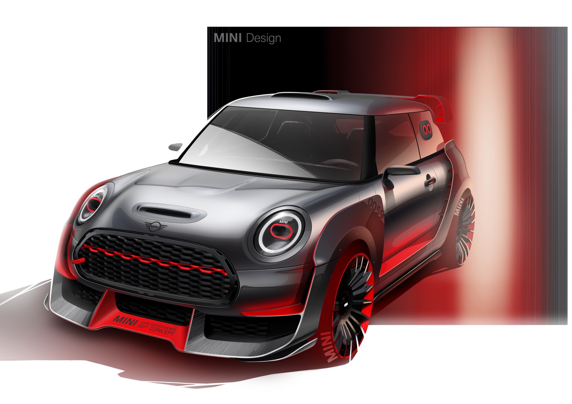 mini john cooper works gp concept to debut in frankfurt. Black Bedroom Furniture Sets. Home Design Ideas