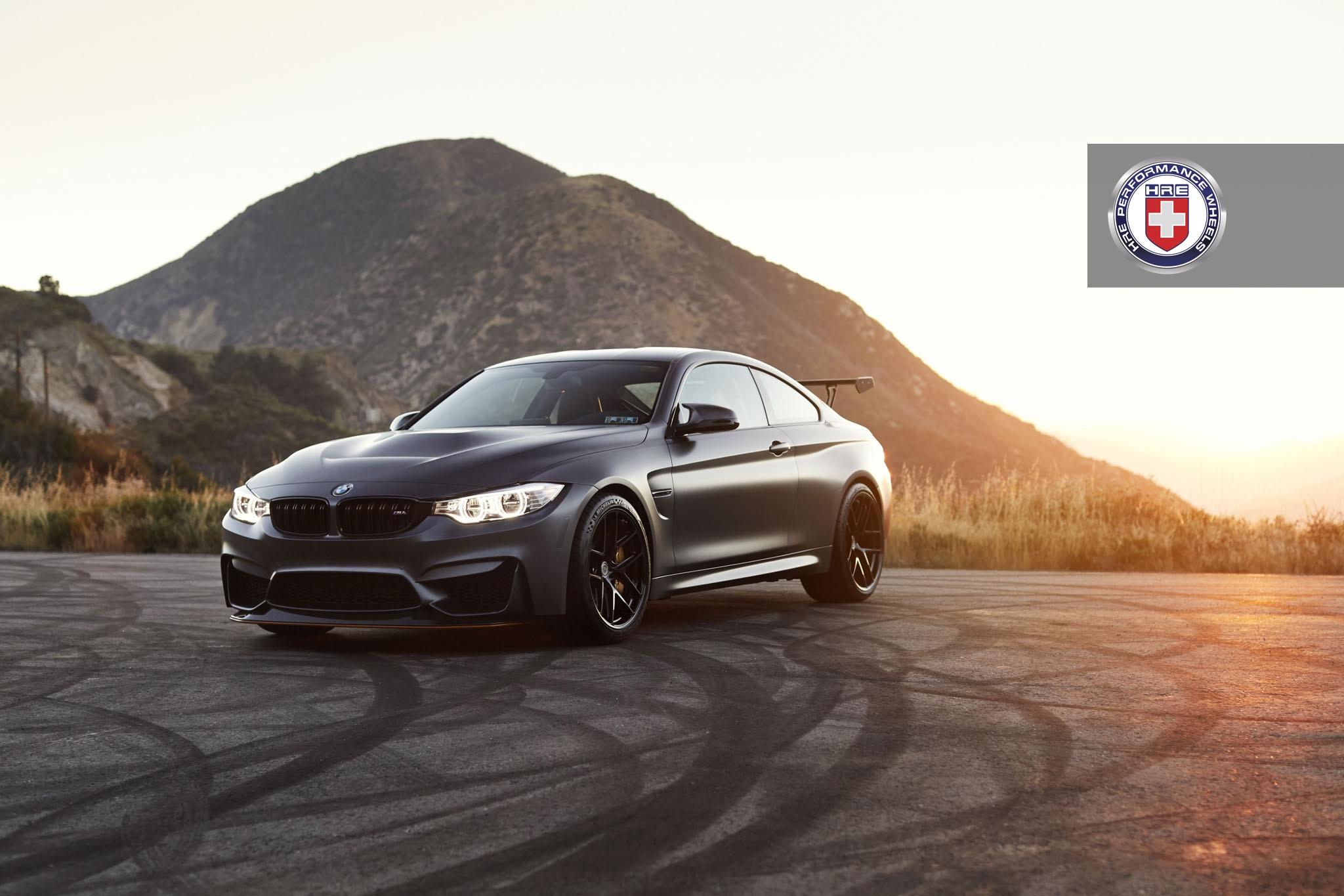 Matte Black BMW M4 GTS with HRE R101 Lightweight Wheels in Gloss Black 5