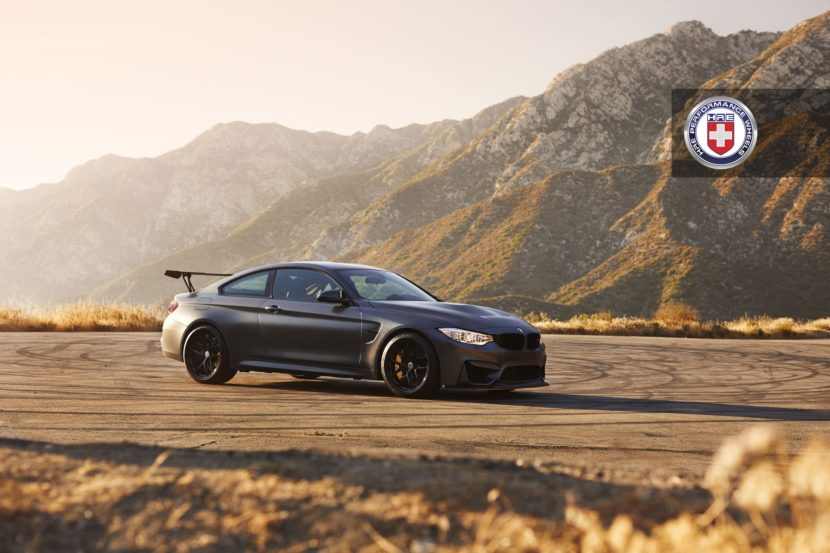Matte Black BMW M4 GTS with HRE R101 Lightweight Wheels in Gloss Black 6 830x553
