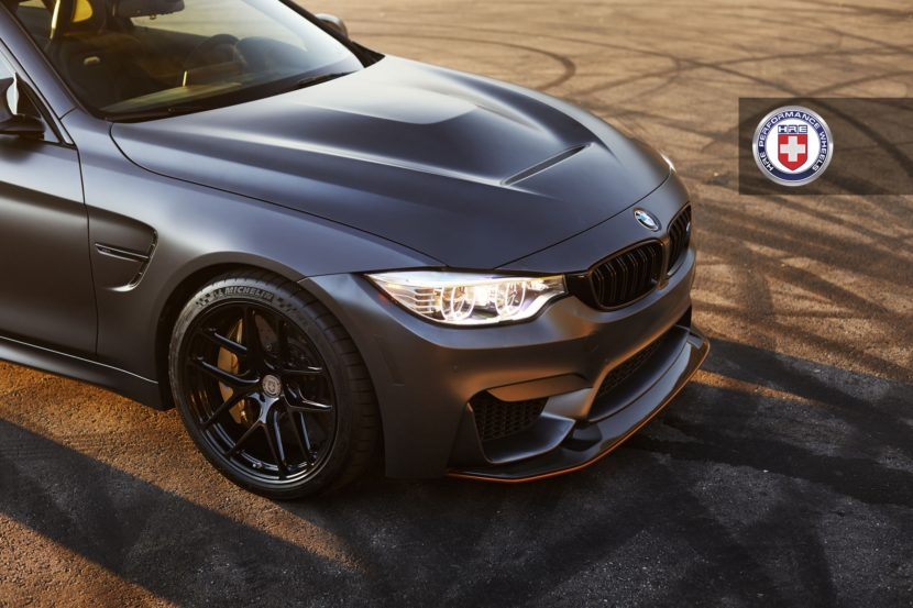Matte Black BMW M4 GTS with HRE R101 Lightweight Wheels in Gloss Black 9 830x553