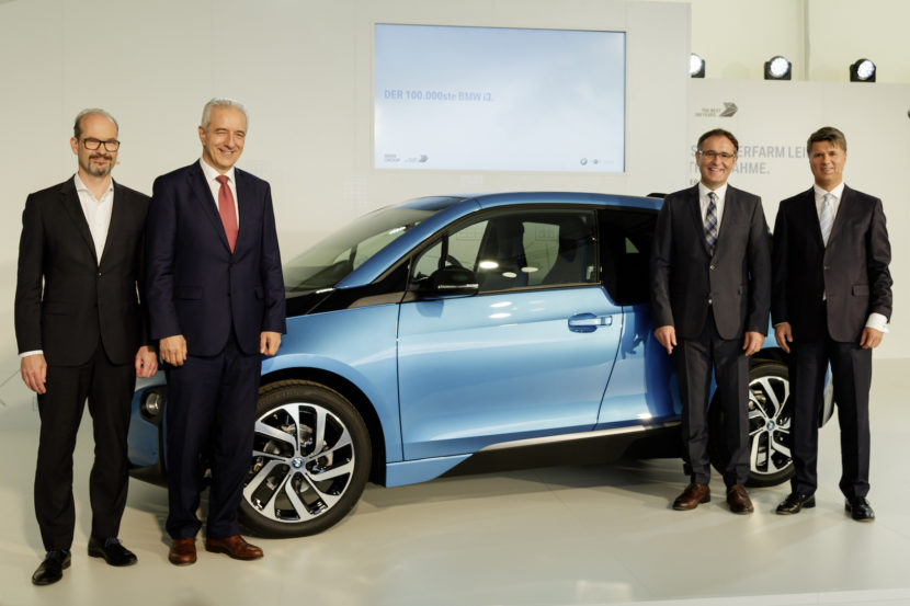 100000th BMW i3 in Leipzig 830x553