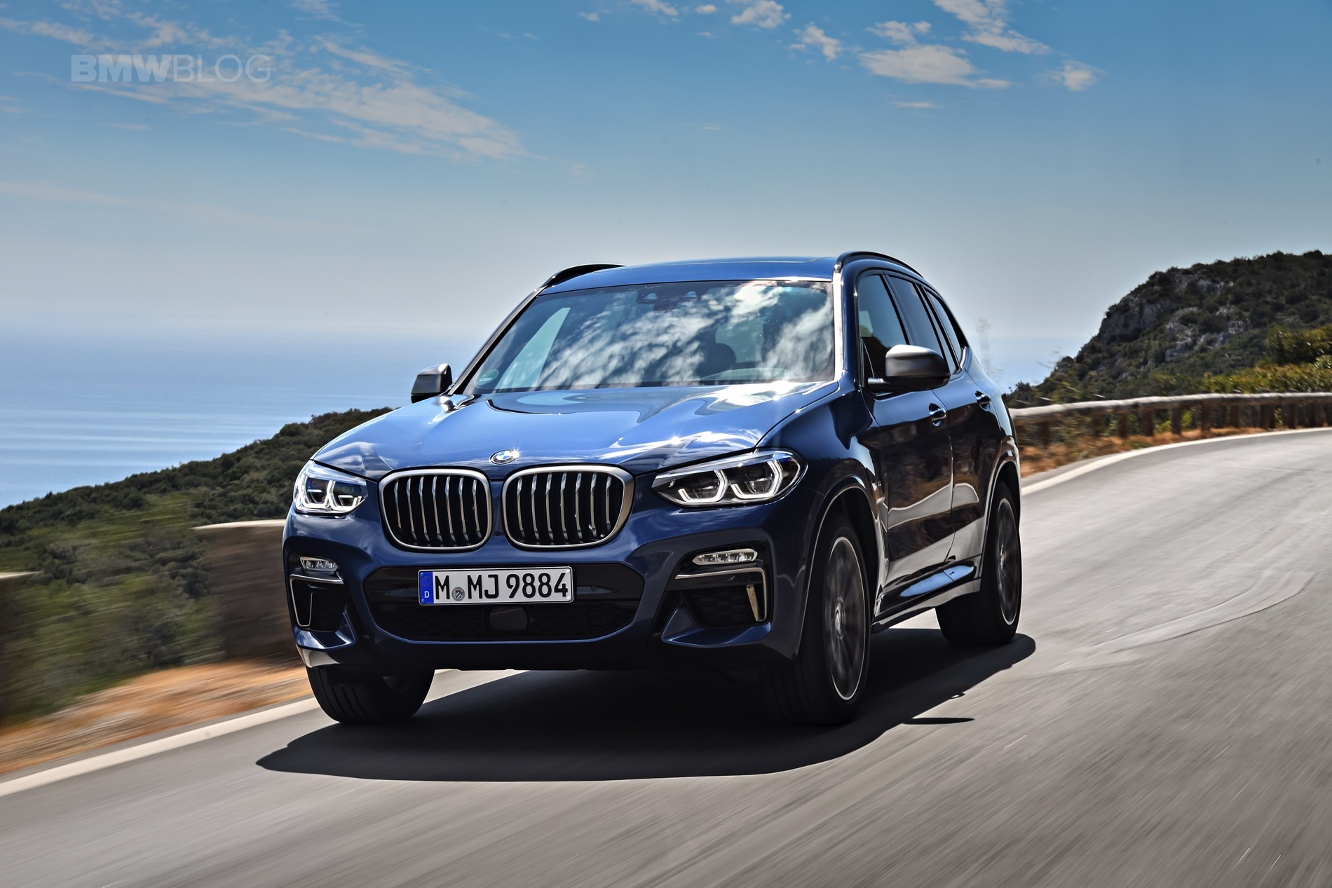 2018 BMW X3 M40i photoshoot 89