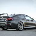 Frozen Black BMW M4 GTS Gets Vorsteiner Wheels