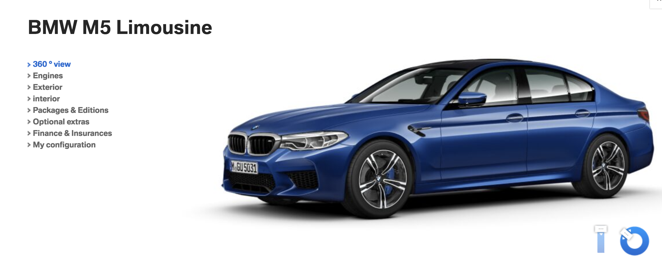Bmw M5 0 60 >> 2018 BMW M5 F90 can now be configured on BMW.de