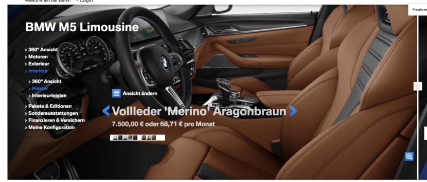 BMW M5 F90 interior 830x355