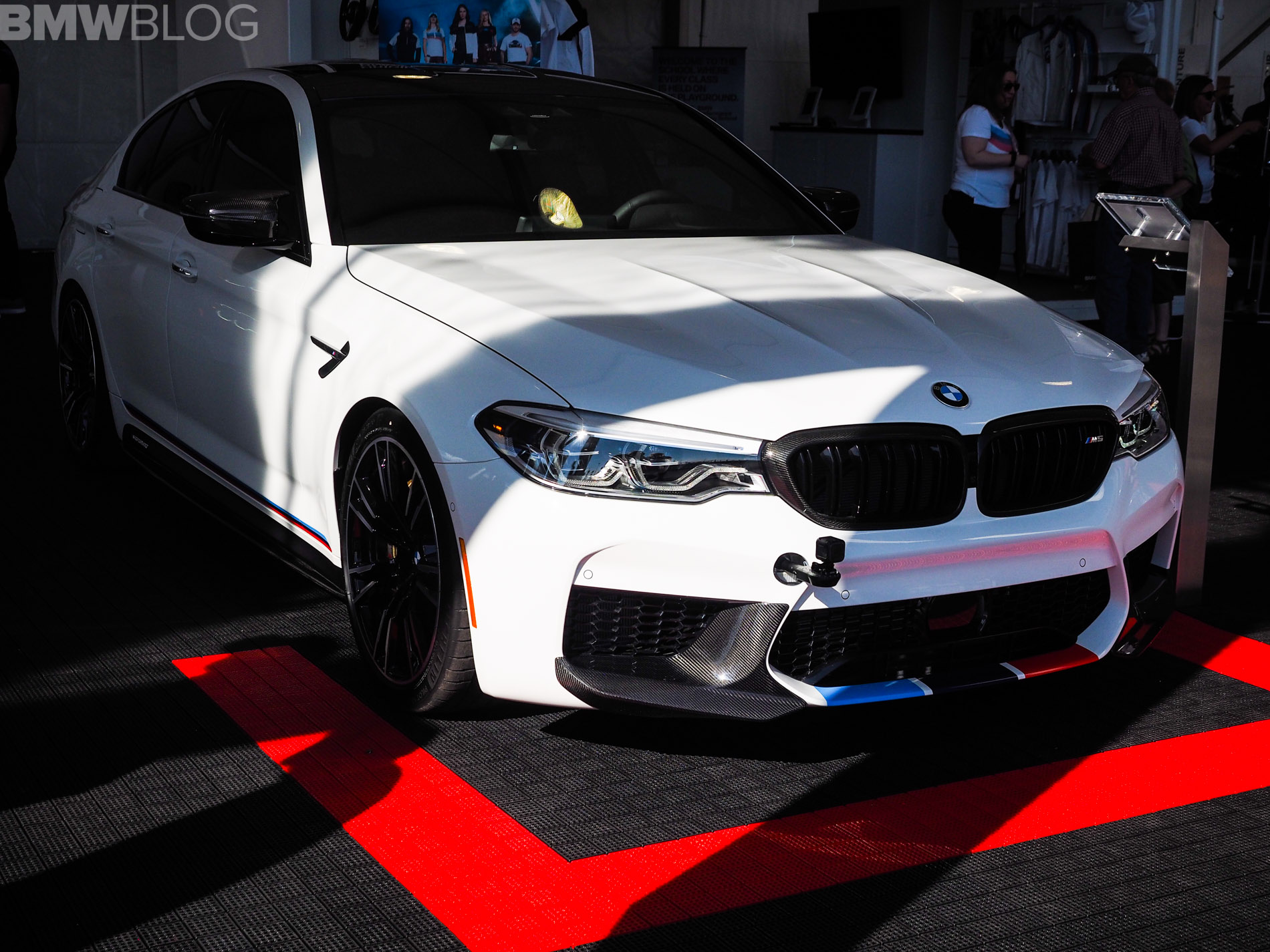 2017 sema live photos bmw f90 m5 with m performance partsthat means it can accelerate from 0 60 mph in 3 2 seconds, making it the fastest production bmw ever made 2017 semabmw m5m performance