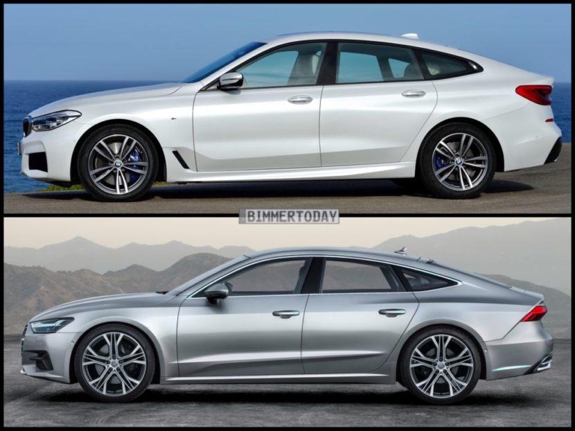 Bild Vergleich BMW 6er GT G32 Audi A7 Sportback 2017 04 1024x767 830x622