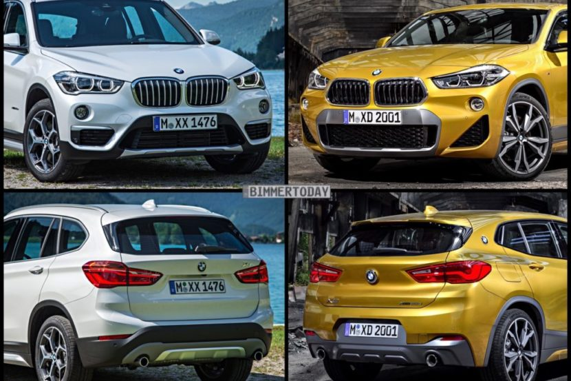 Bild Vergleich BMW X1 F48 XLine X2 F39 M Sport X 2017 01 1024x767 1 830x553