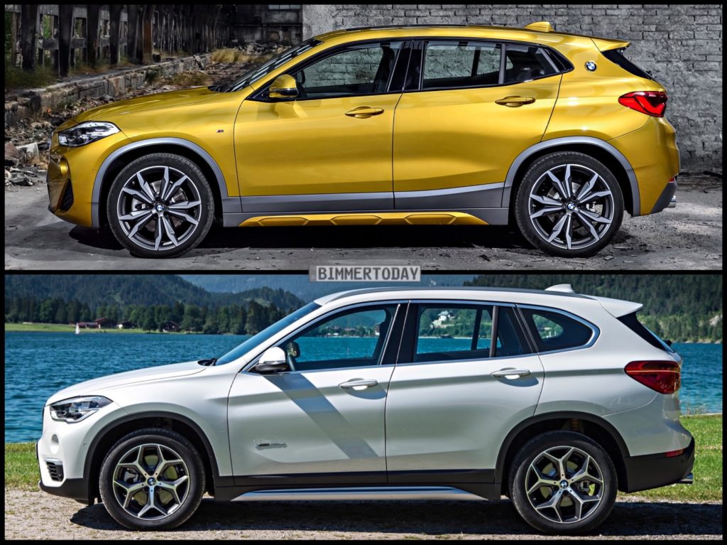 photo comparison bmw x2 vs bmw x1. Black Bedroom Furniture Sets. Home Design Ideas