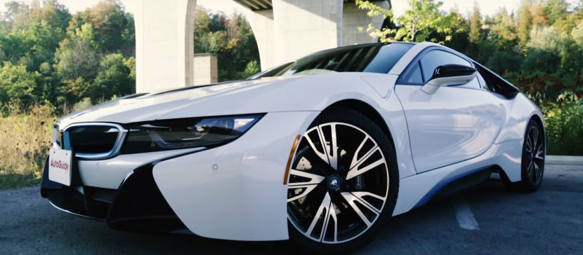 Crystal White BMW i8 830x364