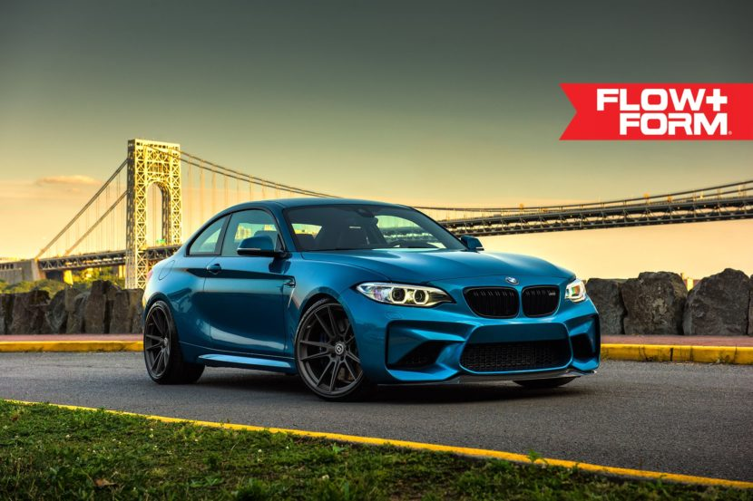 Long Beach Blue BMW M2 With HRE FF04 Wheels 7 830x553