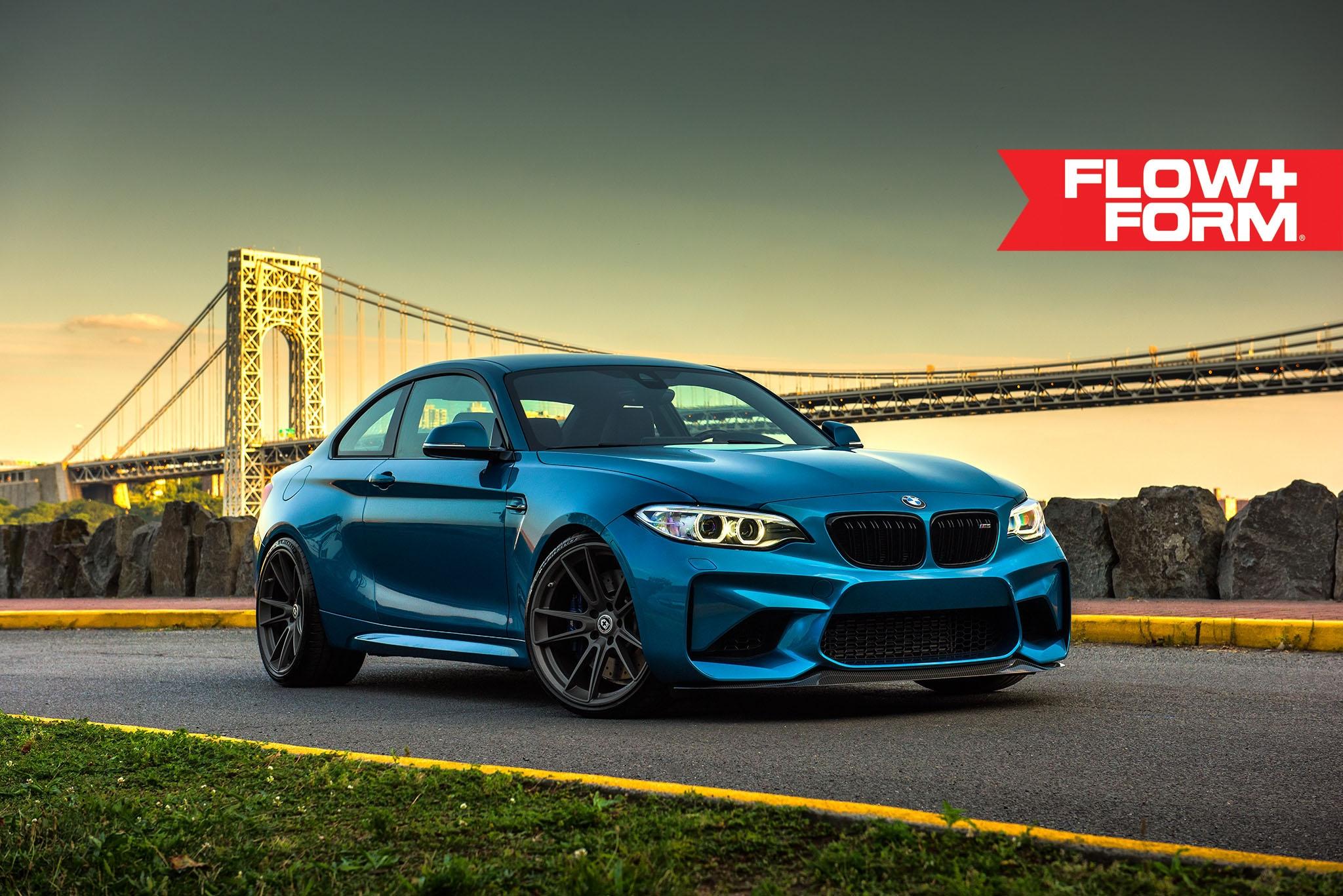 Long Beach Blue BMW M2 With HRE FF04 Wheels 7