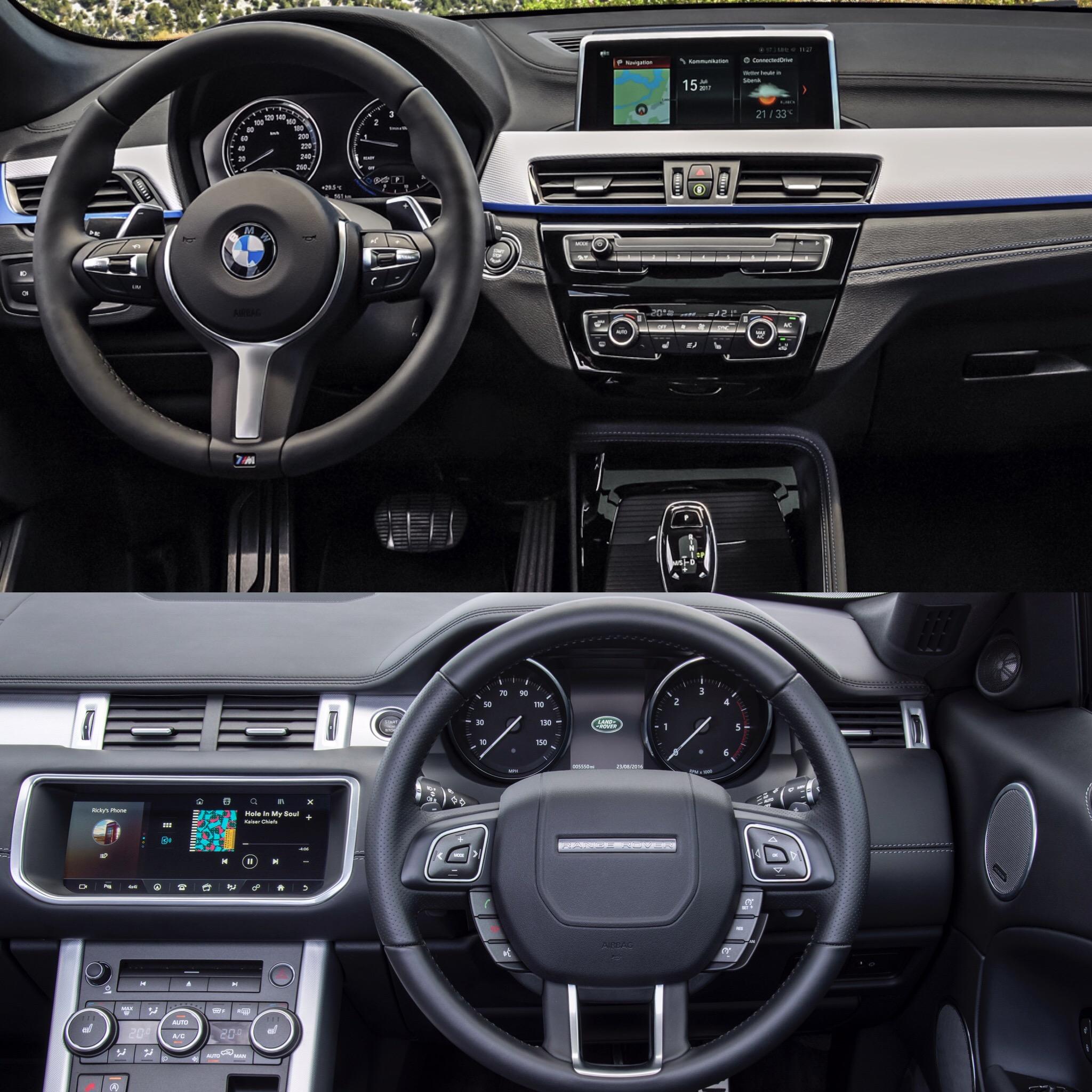 Photo Comparison: BMW X2 Vs Range Rover Evoque
