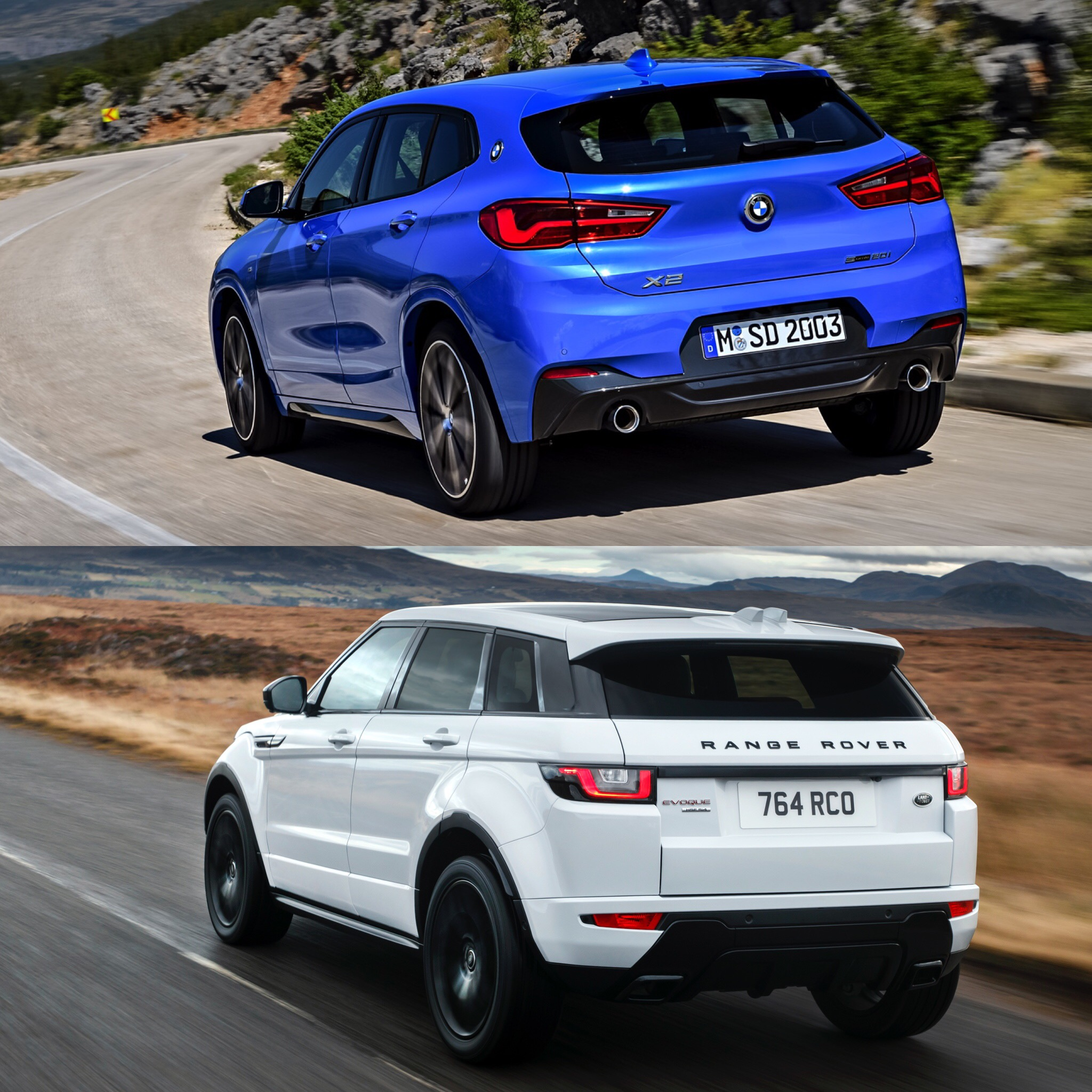 Compare Bmw Models: Photo Comparison: BMW X2 Vs Range Rover Evoque