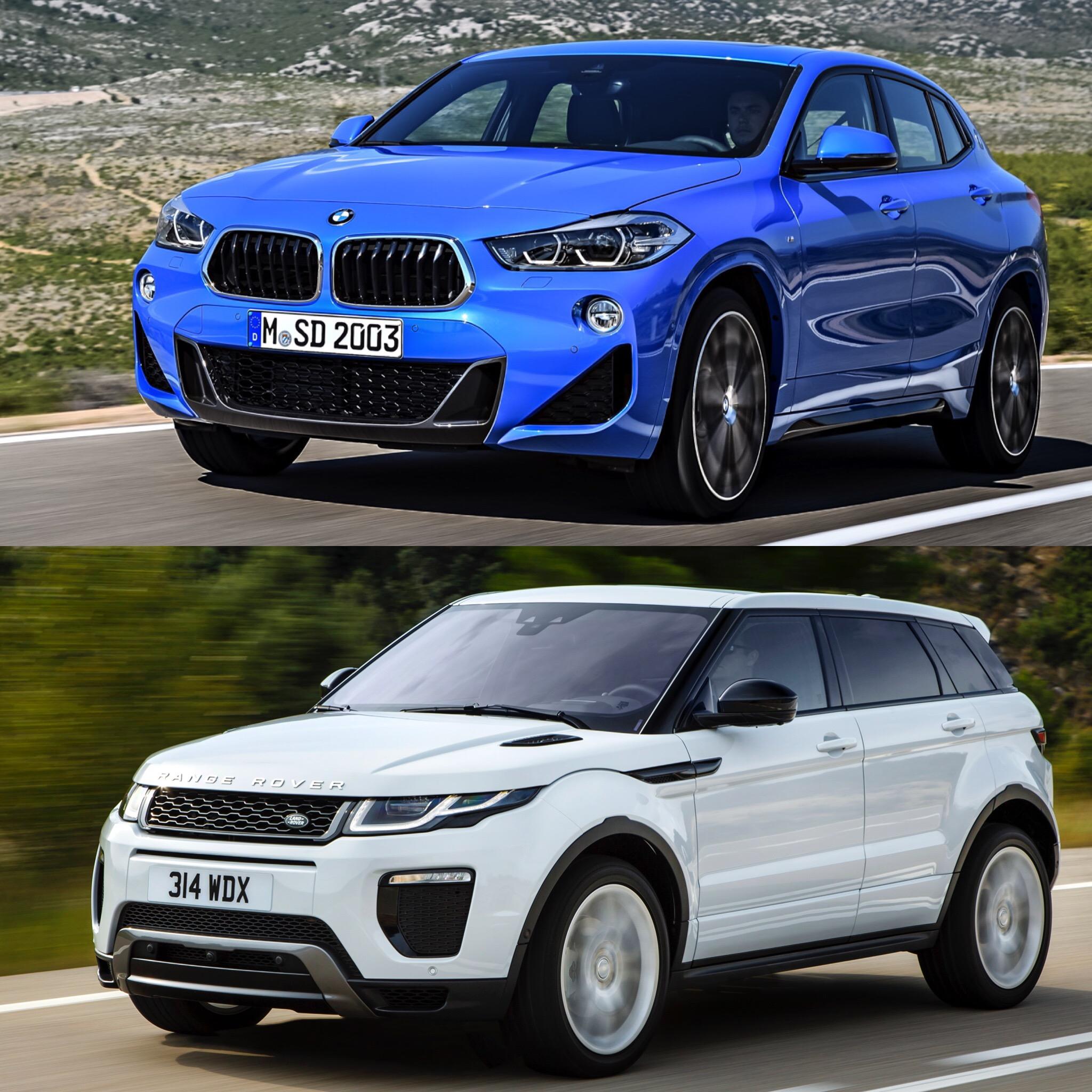 Land Rover: Photo Comparison: BMW X2 Vs Range Rover Evoque