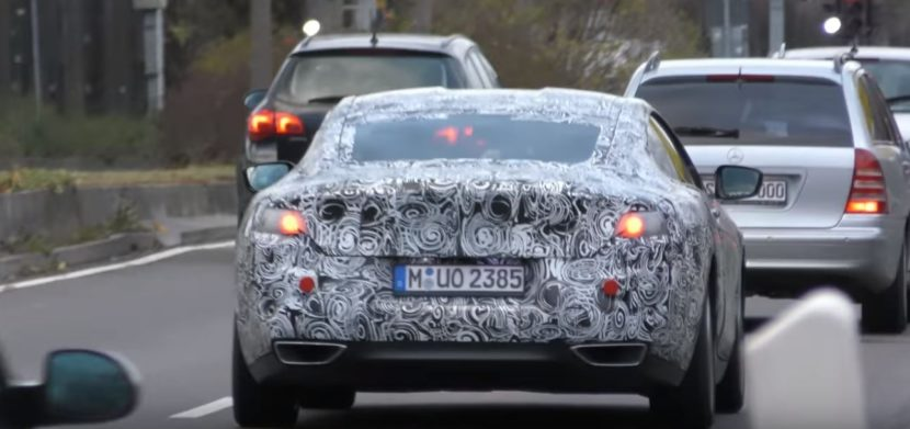 2019 bmw 8 series shows up in german traffic m850i rumors increase 3 830x391