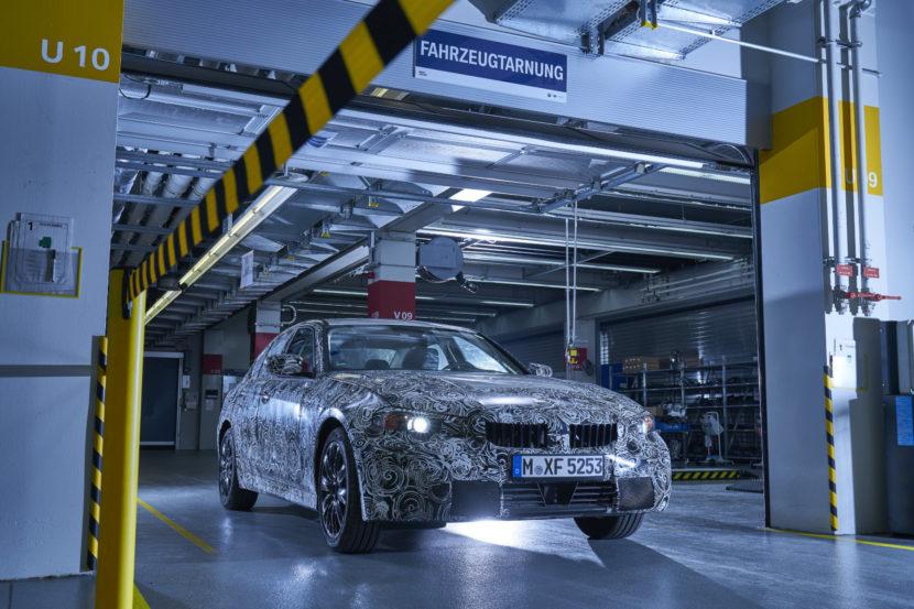 BMW Erlkoenig Tarn Werkstatt 3er G20 01 830x553