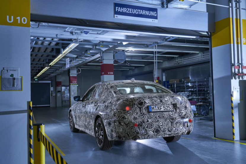 BMW Erlkoenig Tarn Werkstatt 3er G20 21 830x554