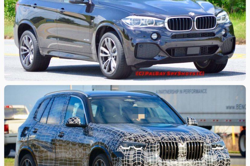 Photo Comparison: Spied G05 BMW X5 Vs F15 BMW X5