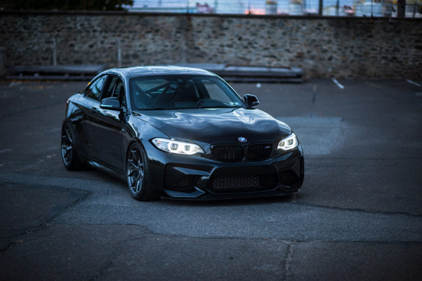 Black Sapphire Metallic BMW M2 Gets Carbon Fiber Upgrades HRE Wheels 2 830x552