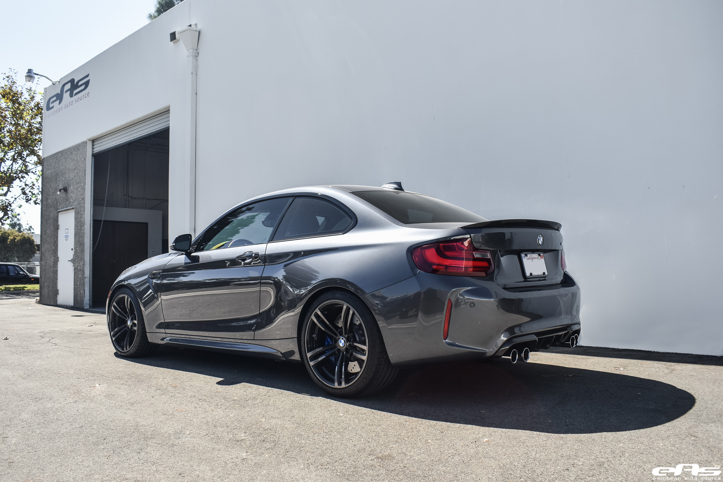 Mineral Gray Bmw M2 Gets M Performance Parts And Coilovers