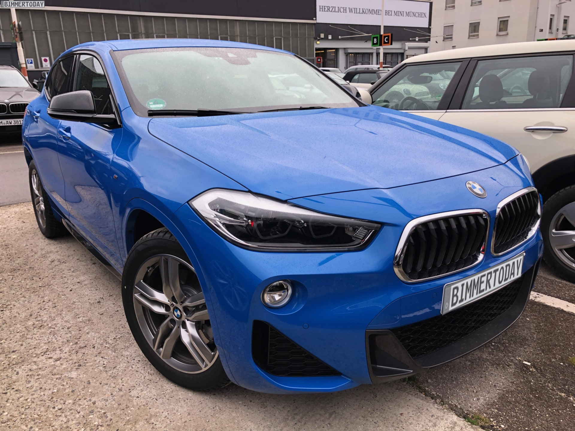 live photos of the bmw x2 spotted in germany. Black Bedroom Furniture Sets. Home Design Ideas