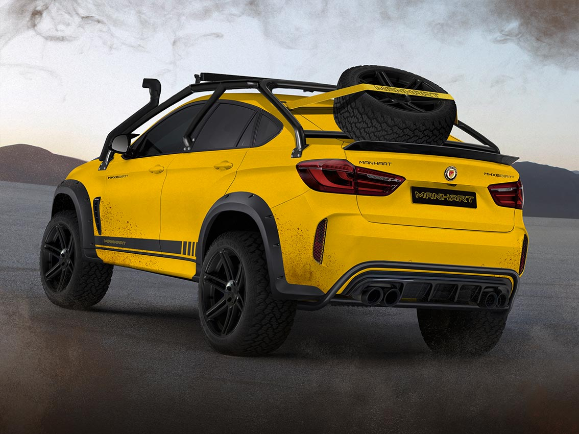 Manhart Mhx6 Dirt Is The Off Road Bmw X6 M You Didn T Ask For But