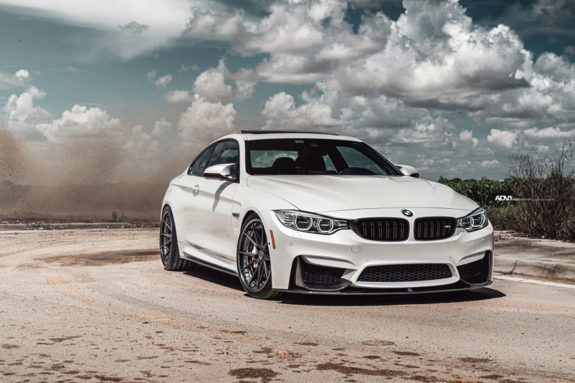 alpine white f82 bmw m4 bimmer adv1 advanced series forged wheels a 830x554