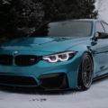 Atlantis Blue BMW M3 - HRE Wheels Wallpaper