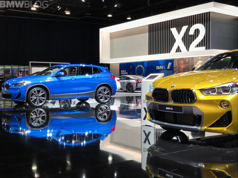 2018 Detroit Auto Show Bmw X2 In Misano Blue