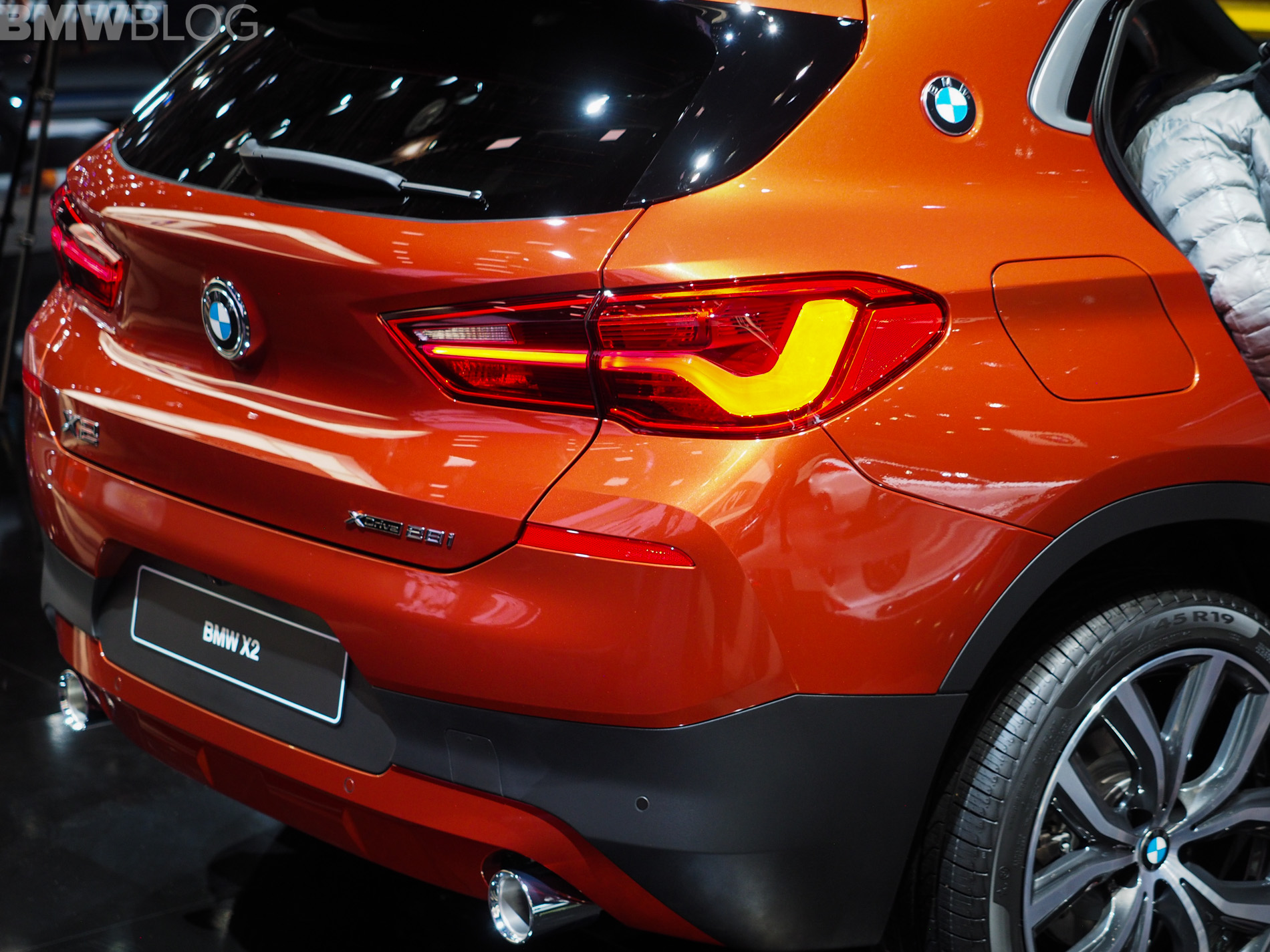 2018 Detroit Auto Show Bmw X2 In Sunset Orange