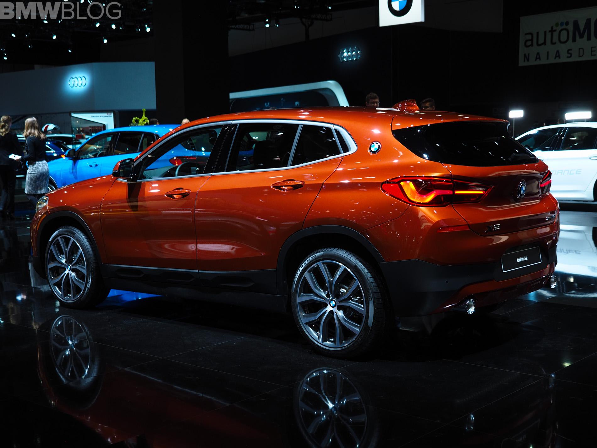 2018 detroit auto show bmw x2 in sunset orange