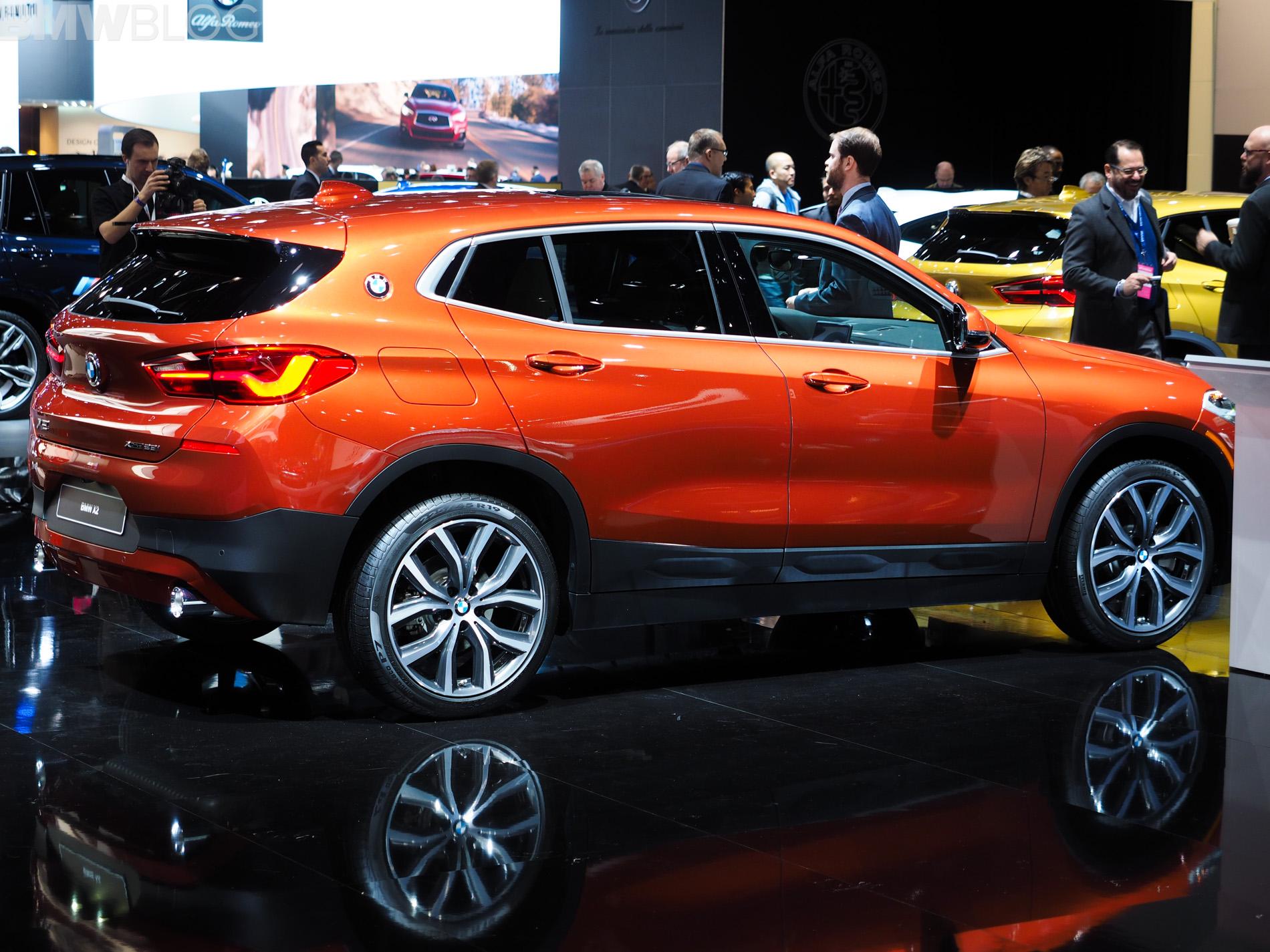 Orange Color 2018 Detroit Auto Show Bmw X2 In Sunset Orange