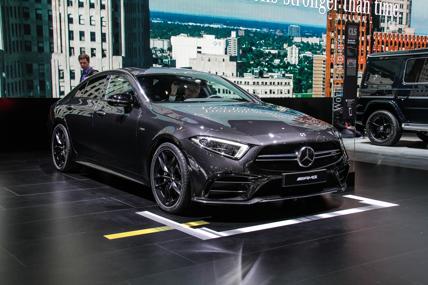 2018 detroit auto show mercedes amg cls53. Black Bedroom Furniture Sets. Home Design Ideas