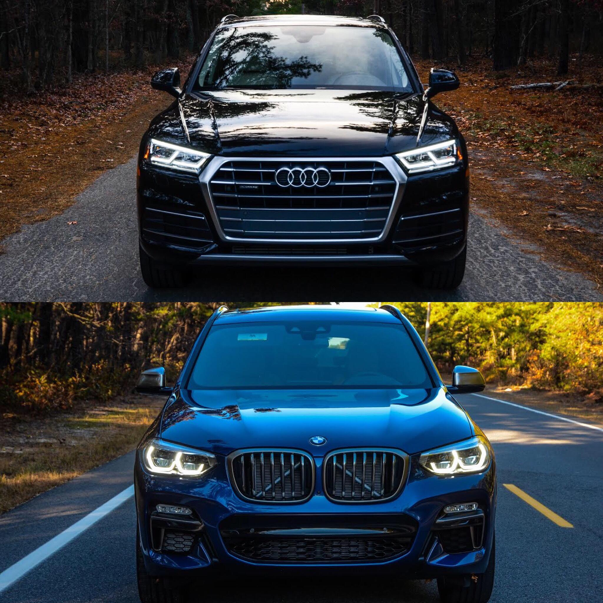 Photo Comparison: 2018 BMW X3 vs 2017 Audi Q5