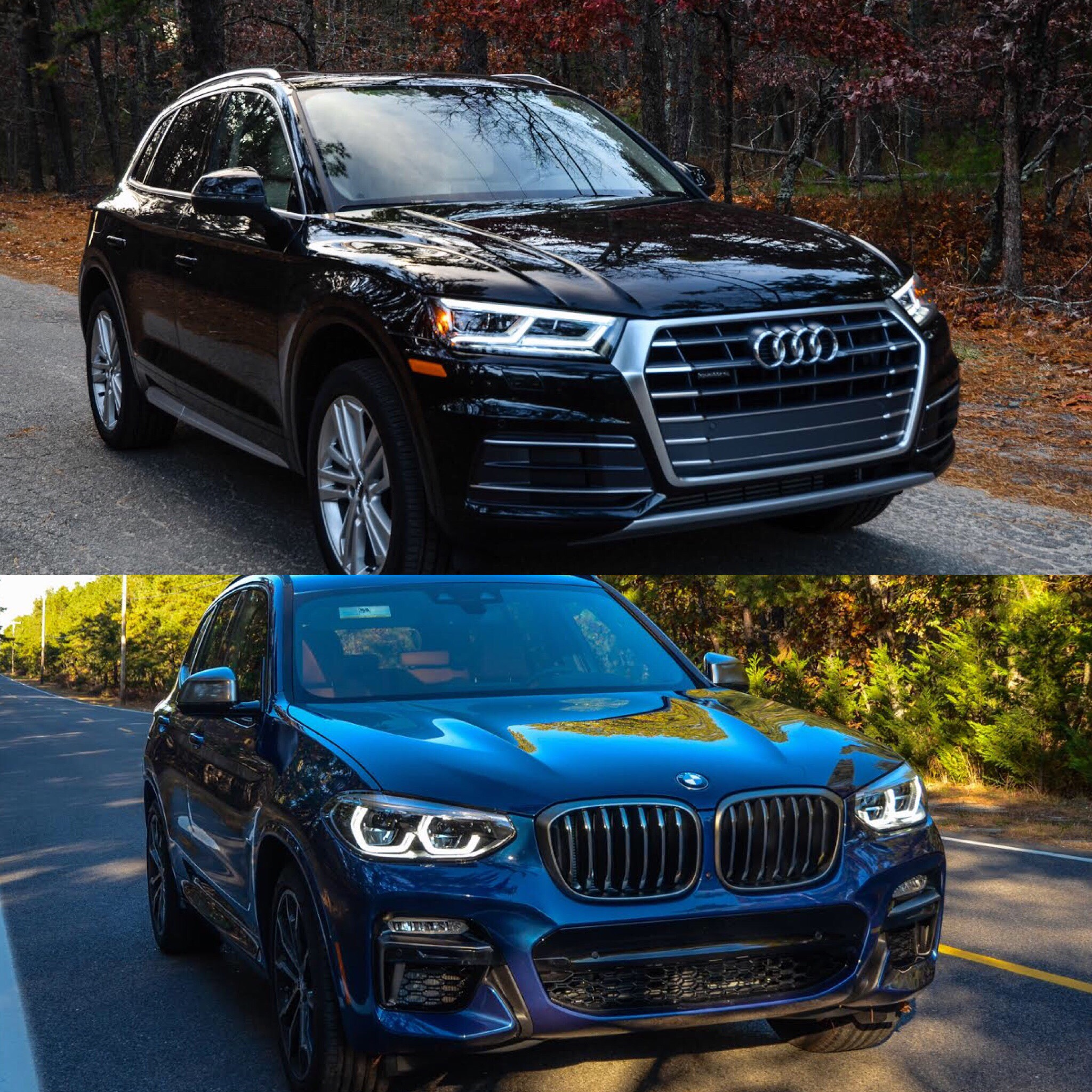 Bmw X7 2018: Photo Comparison: 2018 BMW X3 Vs 2017 Audi Q5