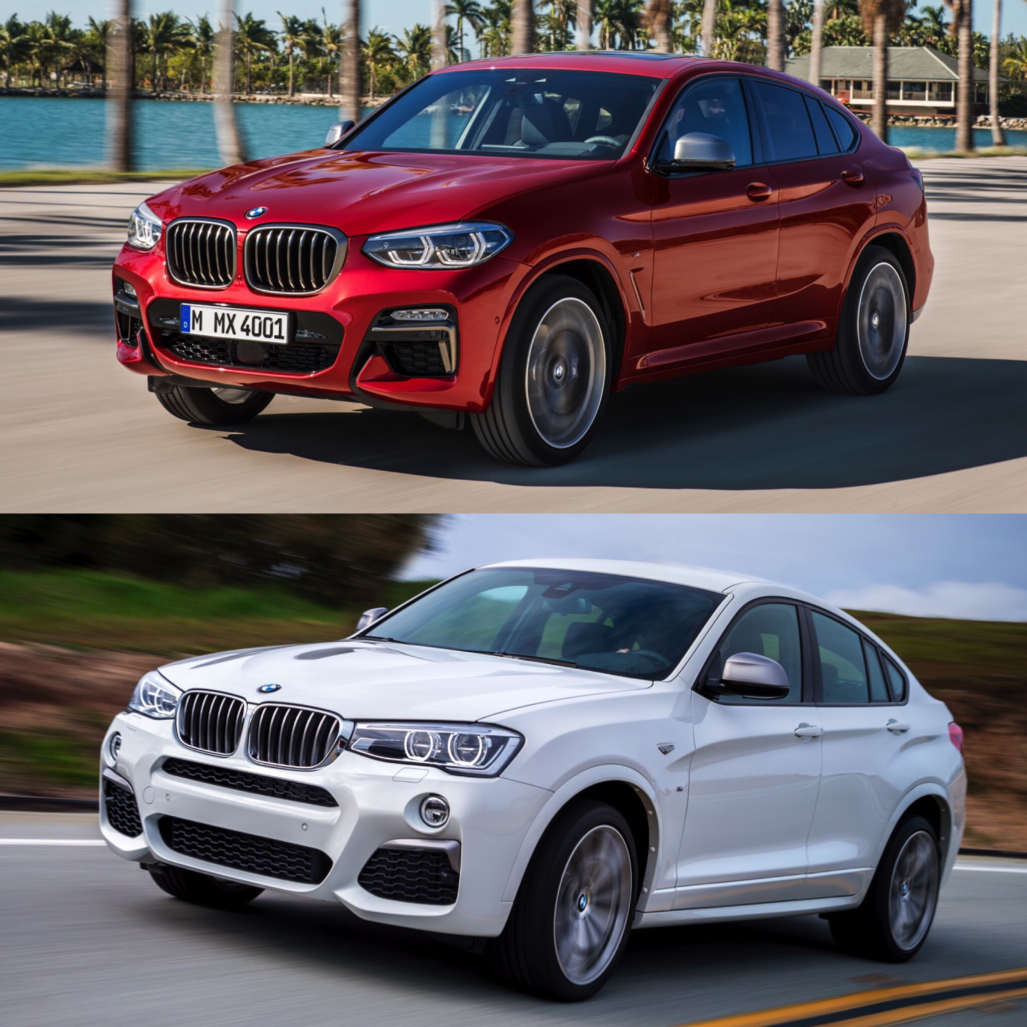 Bmw X7 2018: Photo Comparison: F26 BMW X4 Vs G02 BMW X4 -- Old Vs New