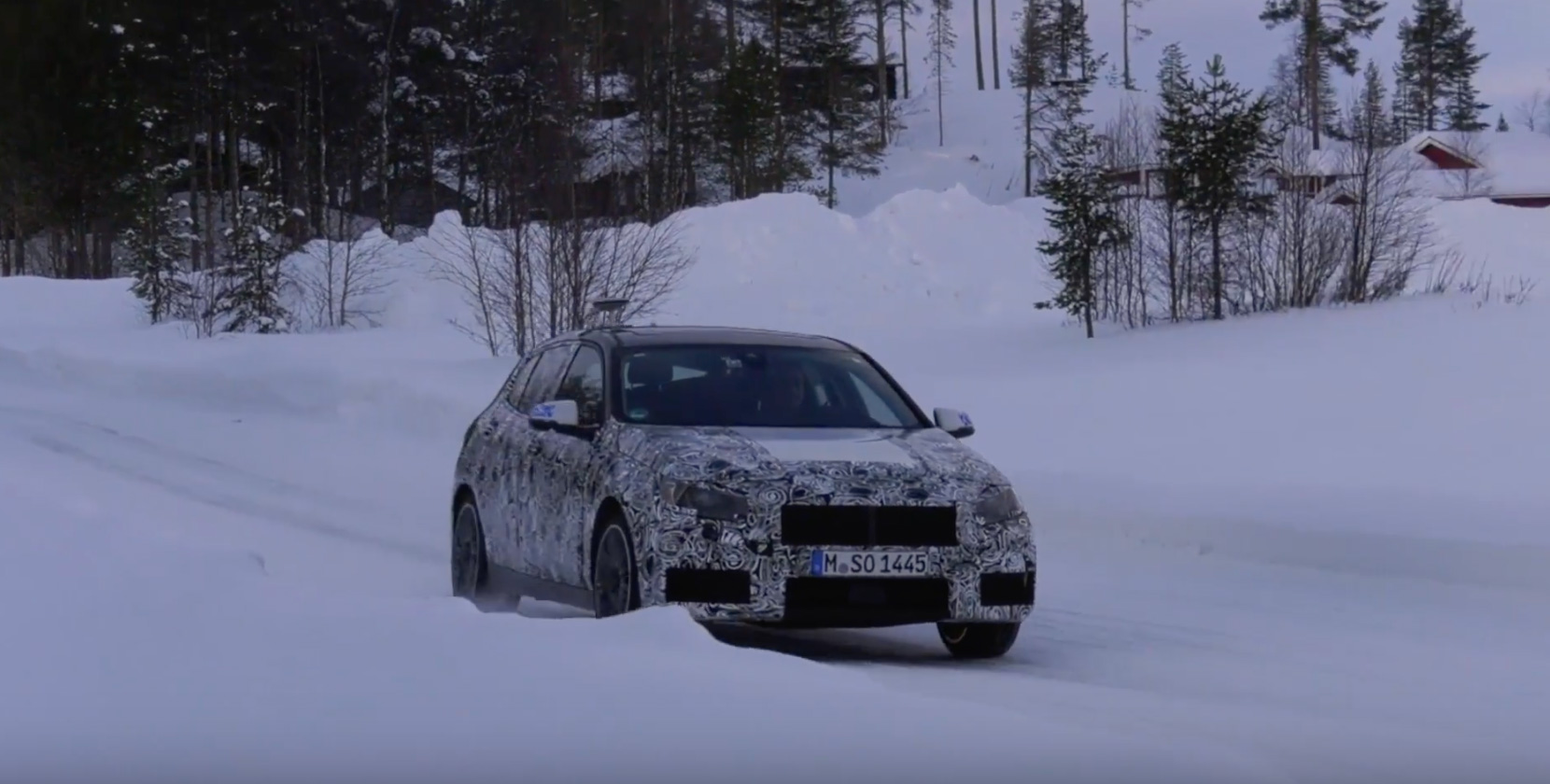 2019 BMW 1 Series snow